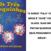 Os 3 porquinhos em LIBRAS *( Linguagem de Brasileira de Sinais)