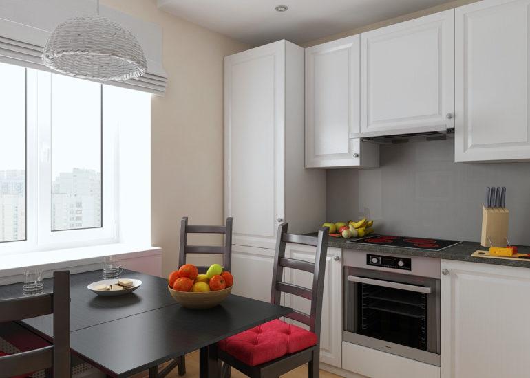 маленькая кухня дизайн фото 8 кв м с холодильником 7