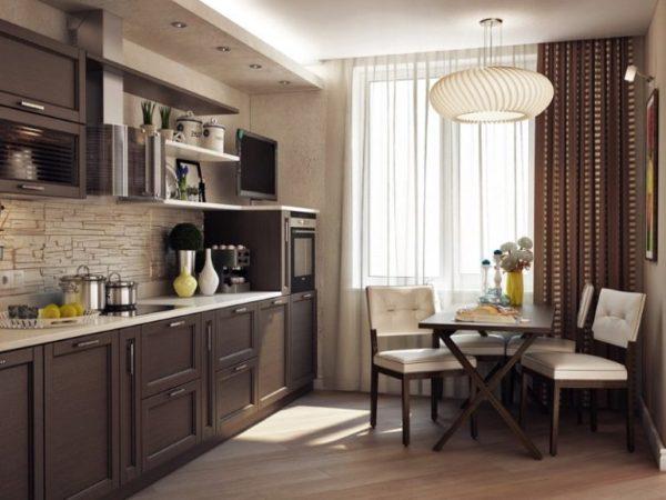 Кухня-гостиная 17 кв. м: дизайн, фото интерьеров, планировка