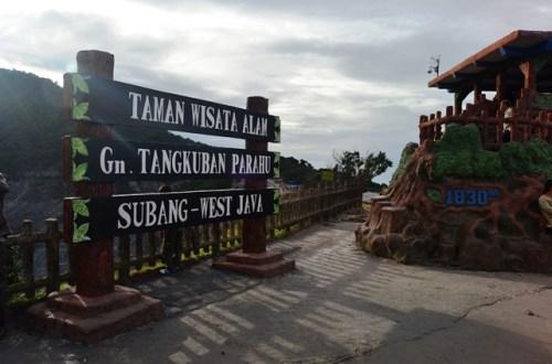 Suasana Sore di Puncak Tangkuban Perahu