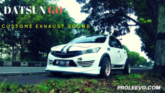 Modifikasi Knalpot Custom Pendongkrak Performa Datsun Go 2015