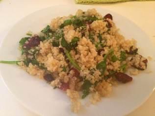 Warm Quinoa Salad Spinach, Cranberry Twist