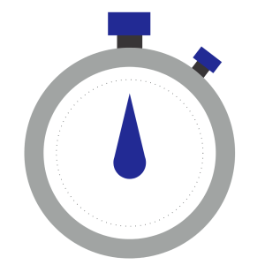 blue stop watch image
