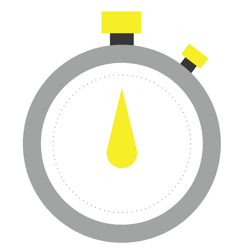 Yellow stop watch
