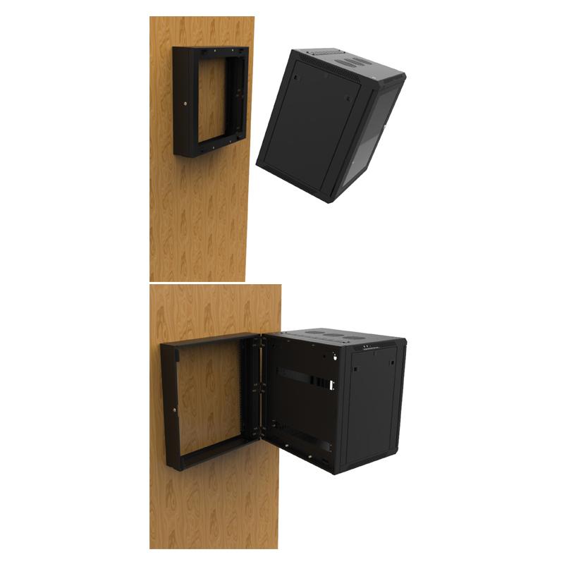 12u wall mount rack frame r6400 rhf 12u