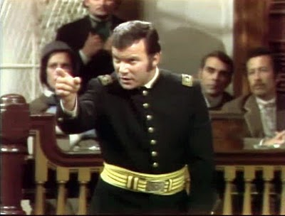 William Shatner is Norton Chipman in The Andersonville Trial (1970) (http://shatnerstoupee.blogspot.com/2010/02/andersonville-trial-toupological.html)