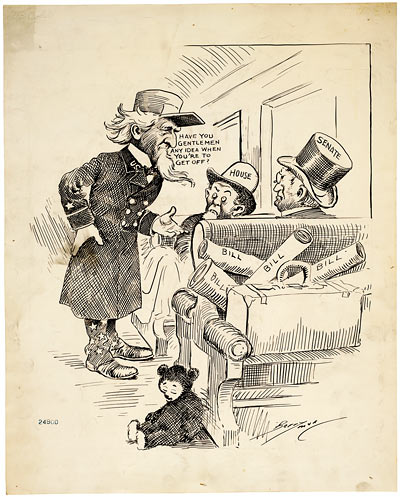 Conductor Uncle Sam wants you to get off the train! (ARC )