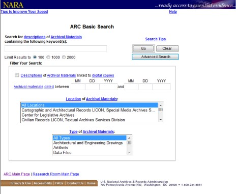 The ARC database