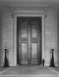 Constitution Avenue Entrance with doors closed, June 13, 1936, 64-NA-79, Records of the National Archives
