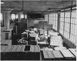 War Department Records housed in the Naval Torpedo Station in Alexandria Virginia before being transferred to the National Archives, September 1935 Records of the National Archives National Archives, Washington, DC