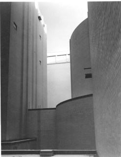 Photograph of the Inner Court of Archives Building, 12/21/1935. (National Archives Identifier: 7820485) This inner courtyard was filled in shortly after the construction of the National Archives Building to increase the building's storage capacity.