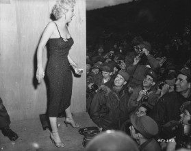 Marilyn Monroe posing for the 3rd U.S.Infantry Division, 02/17/1954. (National Archives Identifier 531435)