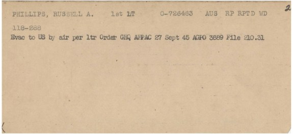 Phillips' evacuation order, September 27, 1945. (National Archives at St. Louis)