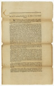 The Funding Act, as introduced in the Senate, June 1790. (Records of the U.S. Senate)
