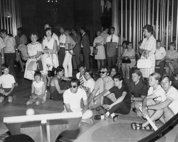 Visitors at the July 4,1970, Ceremony in the Rotunda. (National Archives Identifier 4477182)