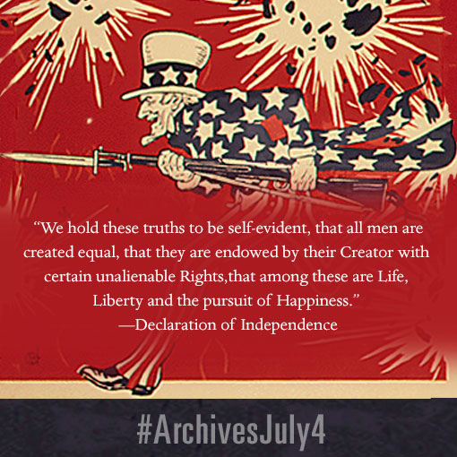 Celebrate the Fourth of July with the National Archives by sharing these patriotic graphics on Facebook, Twitter, Instagram, and more! This image is specially sized for Instagram.