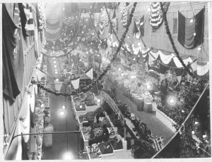 """""""A Birds-Eye View of Part of the Fruits and Vegetable Section of Center Market,"""" February 18, 1915. (National Archives Identifier 7851107)"""