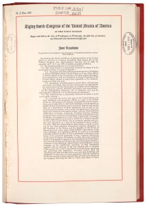 Presidential Libraries Act of 1955, August 12, 1955. (General Records of the U.S. Government, National Archives)