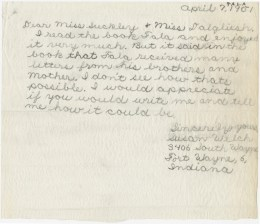 Letter from a school child to Daisy Suckley  asking to explain how Fala can get mail from his K-9 mother and brothers. (FDR Library)