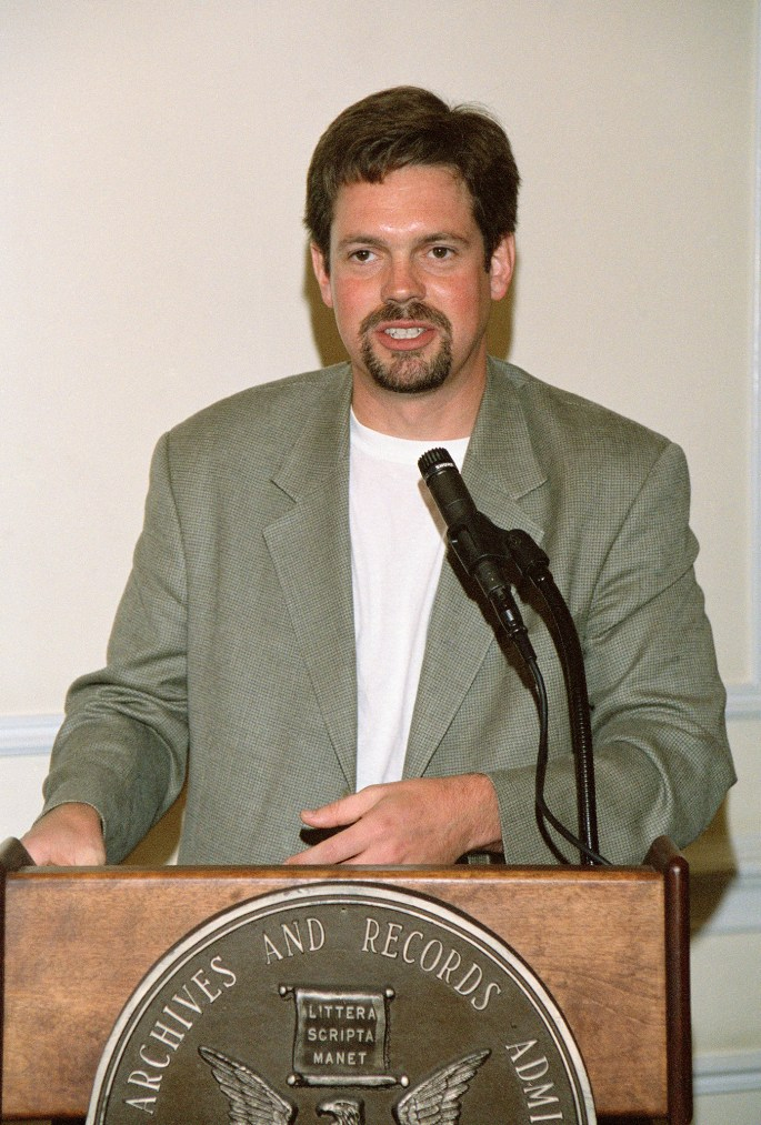 Sam Anthony in 2003. (Photo by Earl MacDonald, National Archives)