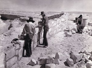 Navajo CCC workers build a diversion, Navajo Nation, Tuba City, Arizona. The Civilian Conservation Corps' incorporation of Native American laborers provided much needed relief during the Depression. (Records of the Bureau of Indian Affairs, National Archives)