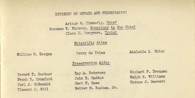 Staff of Div. of Repair and Preservation - Register of the National Archives, 1937 - p. 3