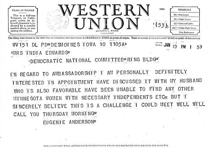 Eugenie telegram