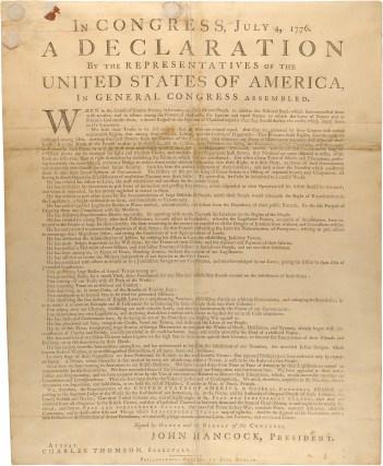 Declaration of Independence, Dunlap Broadside1776 00301_2000_001