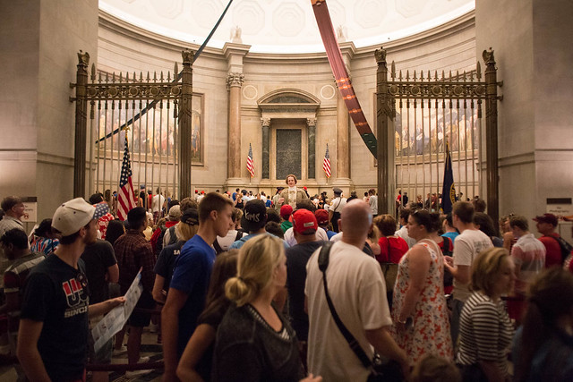 Independence Day Celebration on the Fourth of july at the National Archives