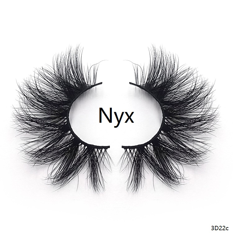 A pair of real 3D mink lashes which called Nyx.