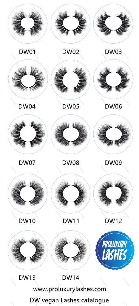DW series eyelashes belong to hot selling High-quality Lashes Catalog