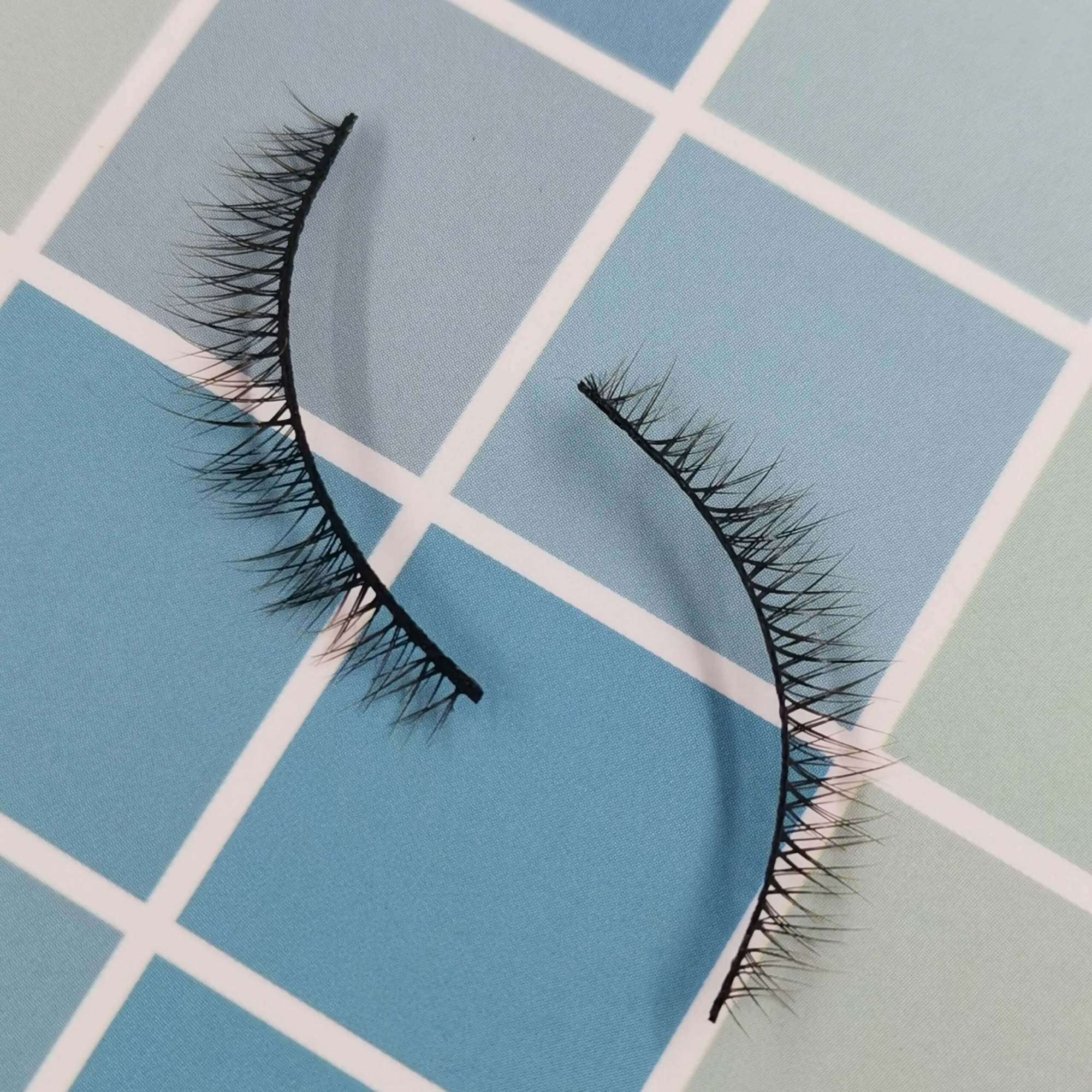 A pair of bottom eyelashes for your eye shape and its model is x002. Trust me, ProluxuryLashes brand is the best eyelash supplier