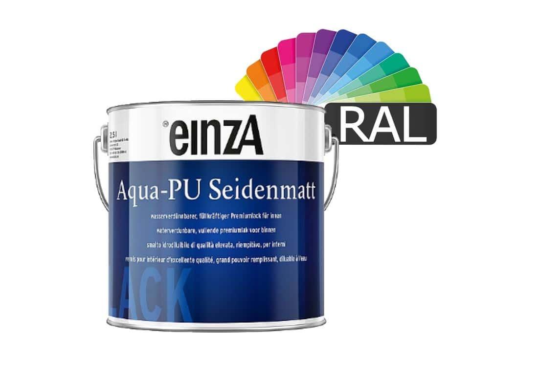 Aqua PU Seidenmatt RAL Farben 1L