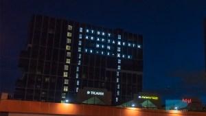 Изготовили и смонтировали буквы и цифры в окна дома в Москве для STROY апартаменты