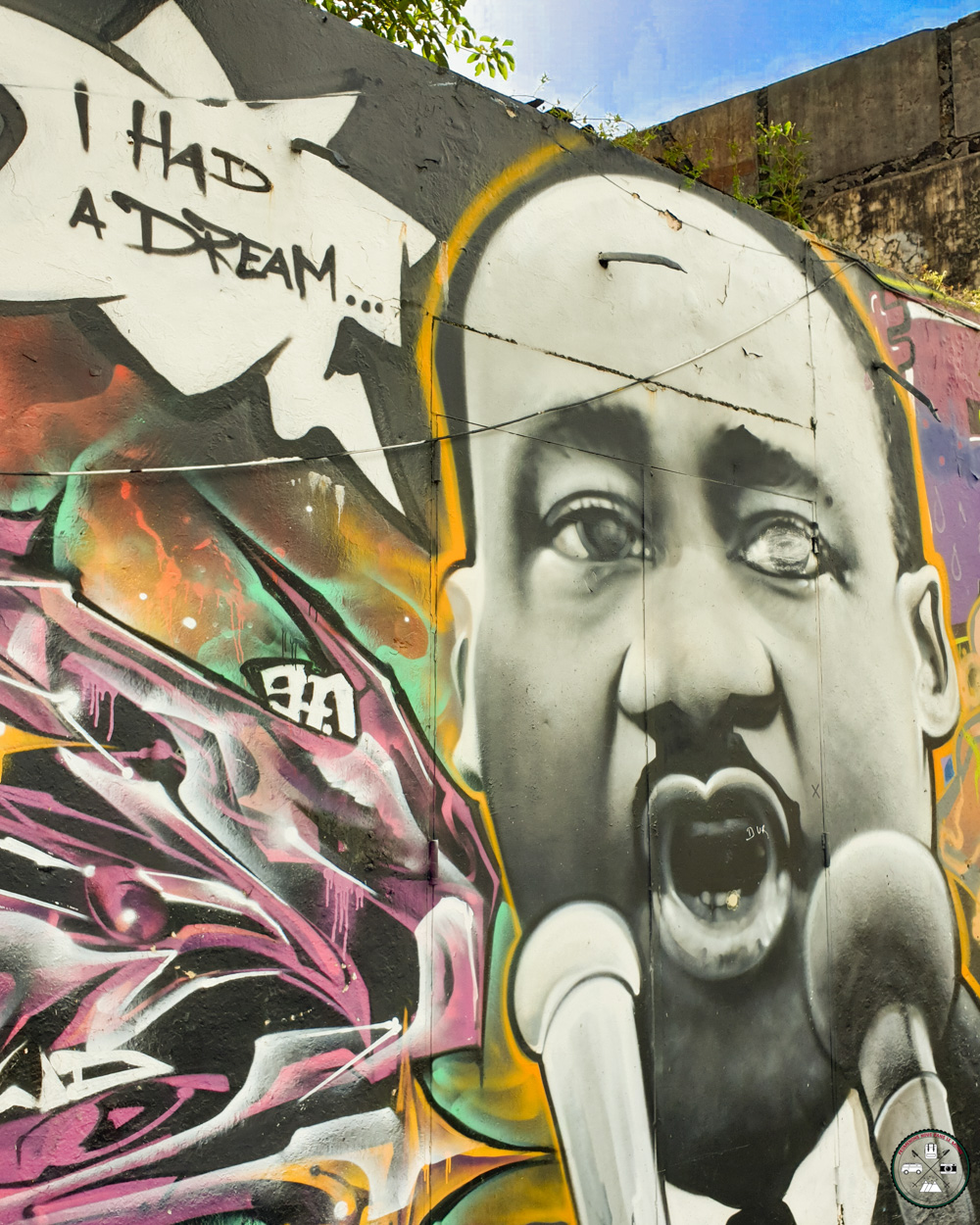 Street Art Graff de Martin Luther King I Had A Dream
