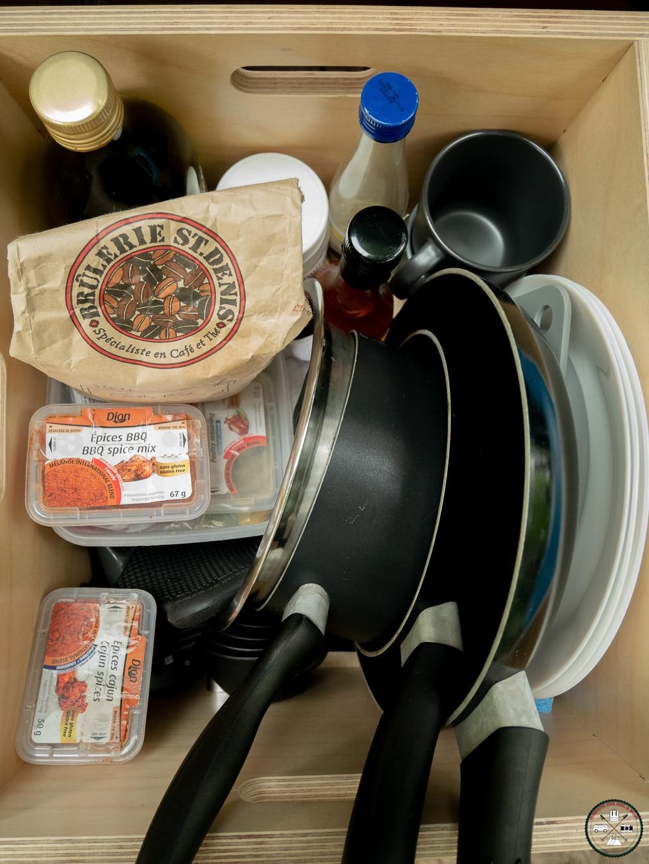équipement de cuisine pour un van