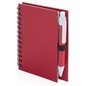 Libreta y bolígrafo