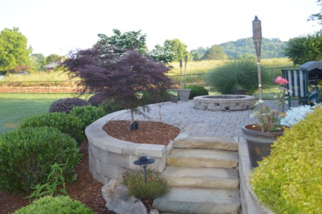 Landscaped Patio Area