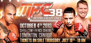 MFC 38 ON SALE LIVE OCT 4 Edmonton Canada