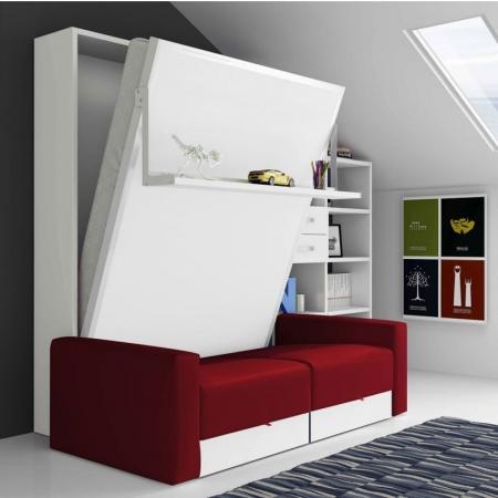 armoire lit escamotable vertical rabattable personnalisable sur mesure amenagement salon chambre prix promo solde discount