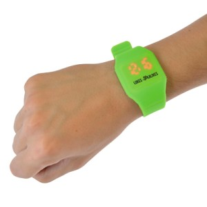 Silicone Watch with Digital show through - Round or Square versions