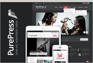 PurePress - responsive & retina-ready portfolio WordPress theme