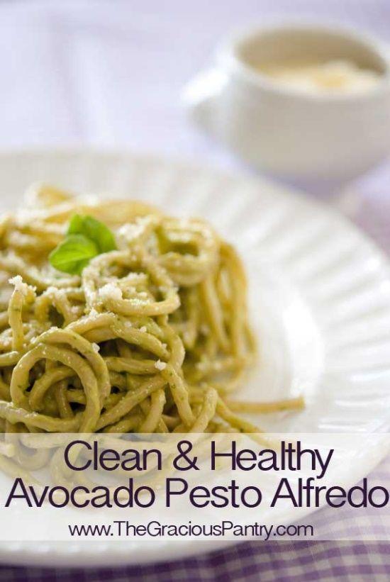 Clean Eating Avocado Pesto Alfredo