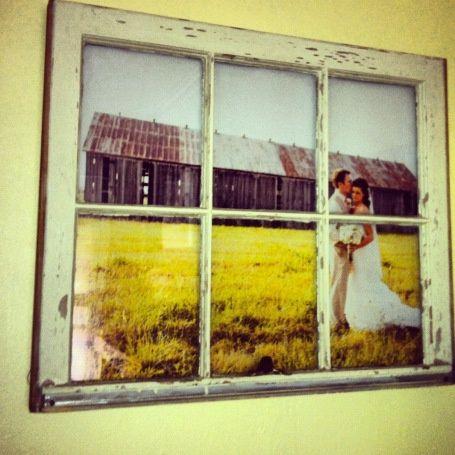 DIY – Vintage Window Pane Picture Frame