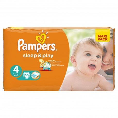 Couches Pampers Sleep Amp Play Taille 4 Pas Cher 50