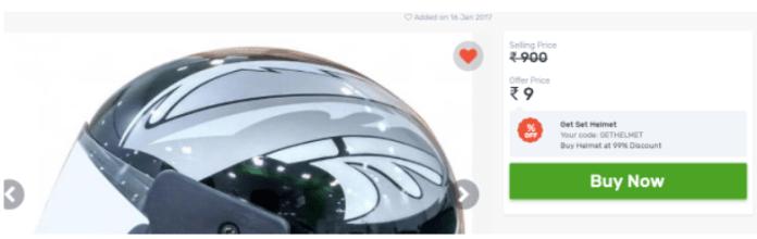 Droom Helmet Loot – Get A Certified Helmet At Rs.9 (Proof Added)
