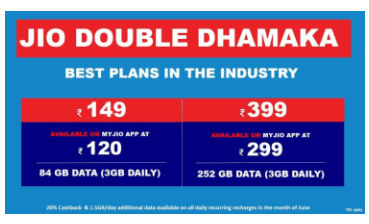 Reliance Jio 120 Plan & 299 Plan