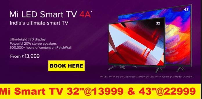 Script Trick to buy Mi LED Smart TV 4 & Mi LED Smart TV 4A