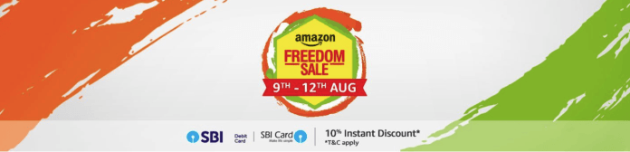 Amazon Freedom Sale Offers 2018 (9th-12th August) - Get 10% Discount via SBI Cards