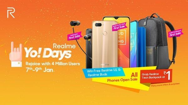 (Loot) Win Free Realme U1 & Get 50% Off on Realme U1 Phone - Realme Yo Days